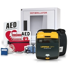 Physio-Control LIFEPAK 1000 AED Stadium and Arena Value Package