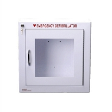 Compact Size Non-Alarmed AED Wall Cabinet Surface Mount w/ AED Signs