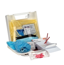 25 Piece Bloodborne Pathogen/Personal Protection Kit w/Microshield® CPR Face Shield by First Aid Only