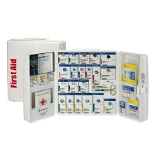 Smart Compliance Food Service Kit w/Medications in Large Plastic Cabinet by First Aid Only