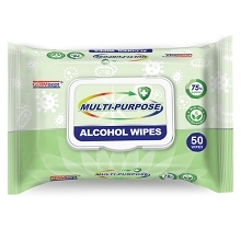 GERMisept Antimicrobial Alcohol Wipes - 50/Packet
