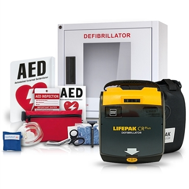Physio-Control LIFEPAK CR Plus AED Stadium and Arena Value Package