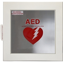 Universal Alarmed AED Cabinet w/ AED Signs