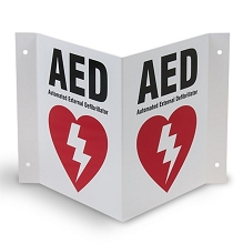 AED Wall Sign (3-Way)