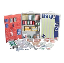 First Aid - 200 Person Deluxe Cabinet - 4 Shelf