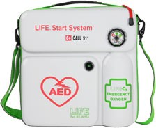 LIFE Corporation LifeStart System (Philips HeartStart AED Carry Case with Oxygen)