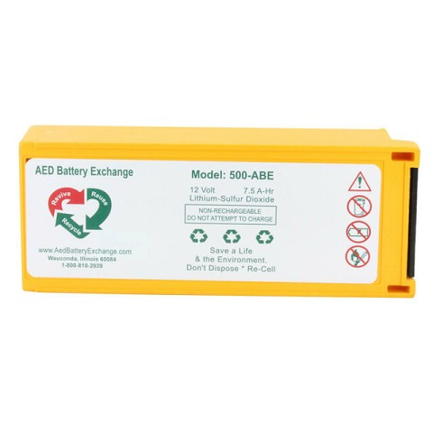 Physio-Control LP500 Battery (Recertified) by AED Battery Exchange