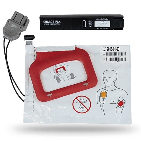 Physio-Control LIFEPAK CR Plus/EXPRESS CHARGE-PAK w/1 set electrode pads