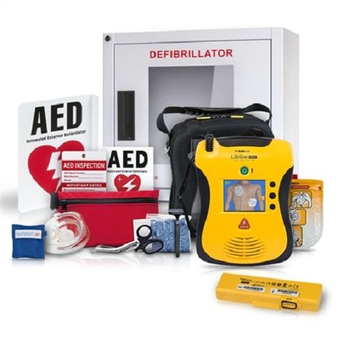 Defibtech Lifeline VIEW AED School and Community Value Package
