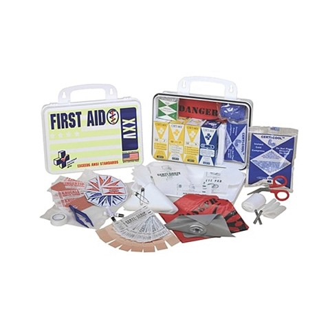 First Aid - ANSI XXV Deluxe - 25 Person - Poly White
